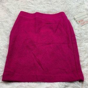 Banana Republic Magenta Bright Pink Wool Skirt